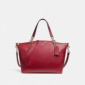 Small Kelsey Satchel In Pebble Leather